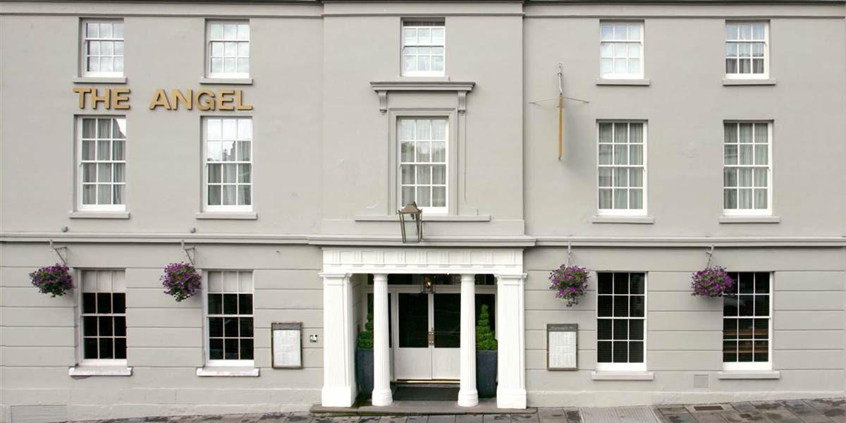 Exterior shot of The Angel Hotel South Wales the perfect B&B Abergavenny