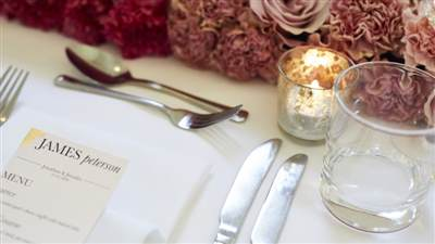 Place setting & flowers