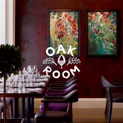 Dining in Abergavenny at Oak room in the Angel Hotel