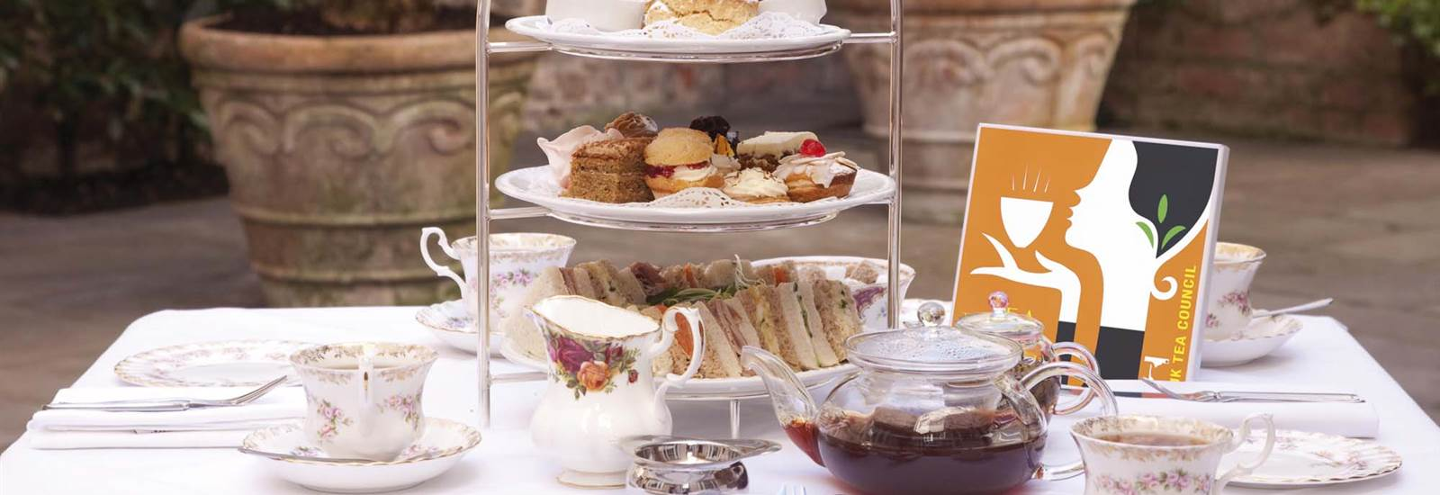 Afternoon tea in Abergavenny near Brecon Beacons at The Angel Hotel 3 Star in South Wales